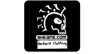 Shkane Hardcore Clothing, Claremont, NC: 'Before and After' license plate makeover - detail (Before)