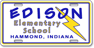 Edison Elementary School, Hammond, IN: 'Before and After' license plate makeover (Before)