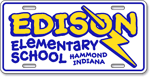 Edison Elementary School, Hammond, IN: 'Before and After' license plate makeover (After)