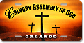 Calvary Assembly of God (Orlando) car tag design sample